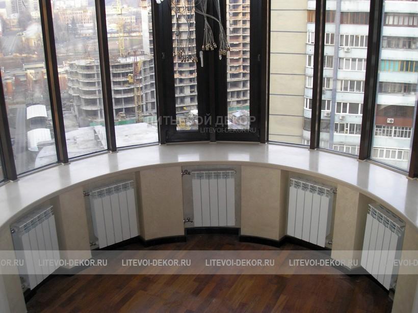 Полукруглый балкон фото.